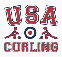 Team USA 2014 Sochi Olympics Curling T Shirt by xdurango