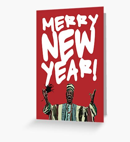 Merry New Year! (Beef Jerky Time) Greeting Card
