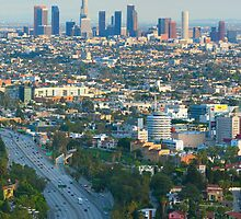 Los Angeles Basin and Los Angeles Skyline 2 by Ram Vasudev