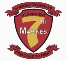 1st Marine Division, FMF - Magnificent 7th Marines - Prepared to Fight by VeteranGraphics