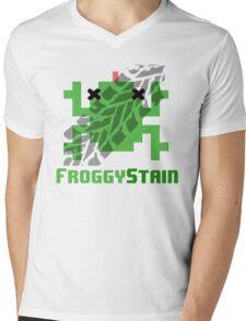 Froggystain Mens V-Neck T-Shirt