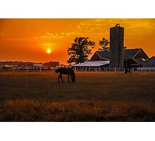 The Beauty of a Rural Sunset Photographic Print