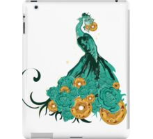 Peacock isolated on the white background iPad Case/Skin