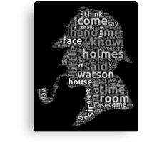 The canon of Sherlock Holmes word cloud Canvas Print