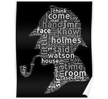 The canon of Sherlock Holmes word cloud Poster