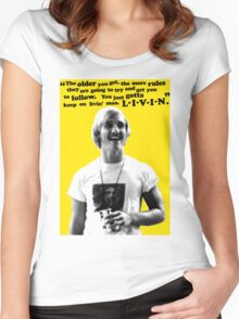 David Wooderson Birthday Card Women's Fitted Scoop T-Shirt