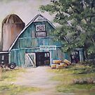 BLUE BARN by Pamela Plante