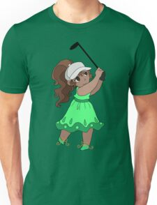 Cute Golfer Girl Unisex T-Shirt