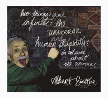 Albert Einstein on Chalkboard by exeters