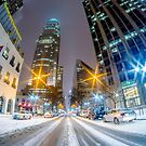 charlotte skyline in snow by Alexandr Grichenko