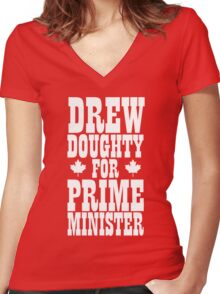 Prime Minister (Red Edition) Women's Fitted V-Neck T-Shirt