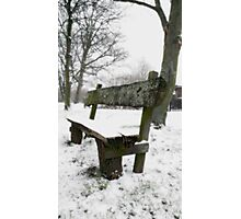 Snow Theme - Bench Photographic Print