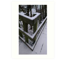 Snow Theme - Fence 1 Art Print
