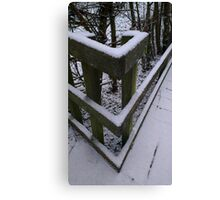 Snow Theme - Fence 1 Canvas Print