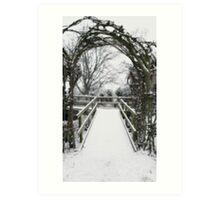 Snow Theme - Tree Archway Art Print
