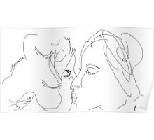 The Kiss -(160214)- Digital artwork/MS Paint Poster