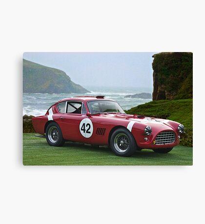 1950's Vintage Race Car No. 42 Canvas Print