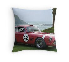 1950's Vintage Race Car No. 42 Throw Pillow