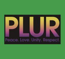 PLUR (Peace. Love. Unity. Respect.) One Piece - Short Sleeve