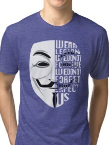 Just My Type: Anonymous Tri-blend T-Shirt