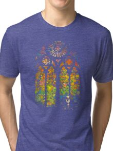Banksy Stained Glass Window Tri-blend T-Shirt