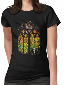 Banksy Stained Glass Window Womens Fitted T-Shirt