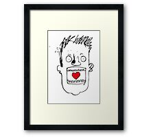 Heart In Gob. Its a love thing. Framed Print