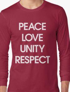 Peace Love Unity Respect (PLUR) Long Sleeve T-Shirt