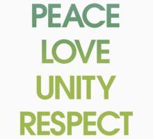 Peace Love Unity Respect (PLUR) Kids Clothes