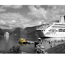 Cruise Ships in the Fjord Photographic Print