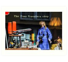 The Time Travellers Shop Art Print
