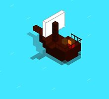 Lonley Ship iPhone Case by Pixelcoderus