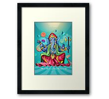 Ganesh Ji - Blue Edition Framed Print