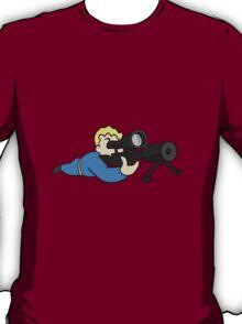 Vault Boy Sniper (colored) T-Shirt