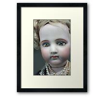 Vintage Collectable Doll with Pearl Necklace Photograph  Framed Print