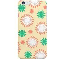White orange green floral on yellow iPhone Case/Skin