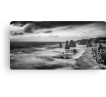 The Twelve Apostles in Black and White. Canvas Print