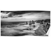The Twelve Apostles in Black and White. Poster