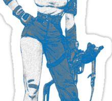bulma blue with gun Sticker