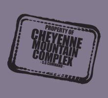 'Property of Cheyenne Mountain Complex' Stargate SG1 inspired design by hypergeekstuff