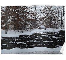 Harsimus Stem Embankment, Snow View, Former Pennsylvania Railroad Embankment, Jersey City, New Jersey Poster