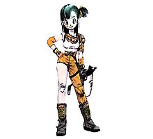 bulma with gun Photographic Print