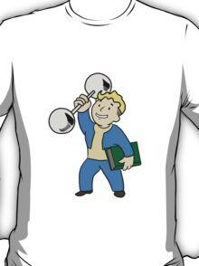 Vault Boy Intense Training (colored) T-Shirt