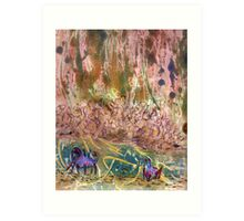 Blue Crabs, Tribute to Walter Inglis Anderson Art Print