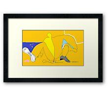 Man taking a leak -(160214)- Digital artwork/MS Paint Framed Print