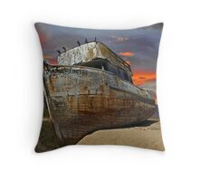 Beached and Abandoned I Throw Pillow