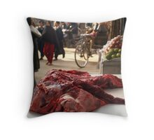 Strictly for non-vegetarians only  Throw Pillow