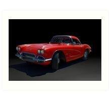 1961 Corvette Art Print