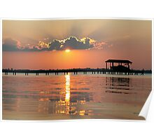 County Dock Sunset Poster