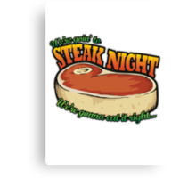 Scrubs - Steak Night Canvas Print